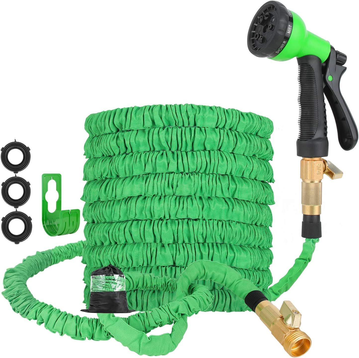 Expandable Garden Hose 100FT, Magic Expanding 3 Times Water Hose with 3/4