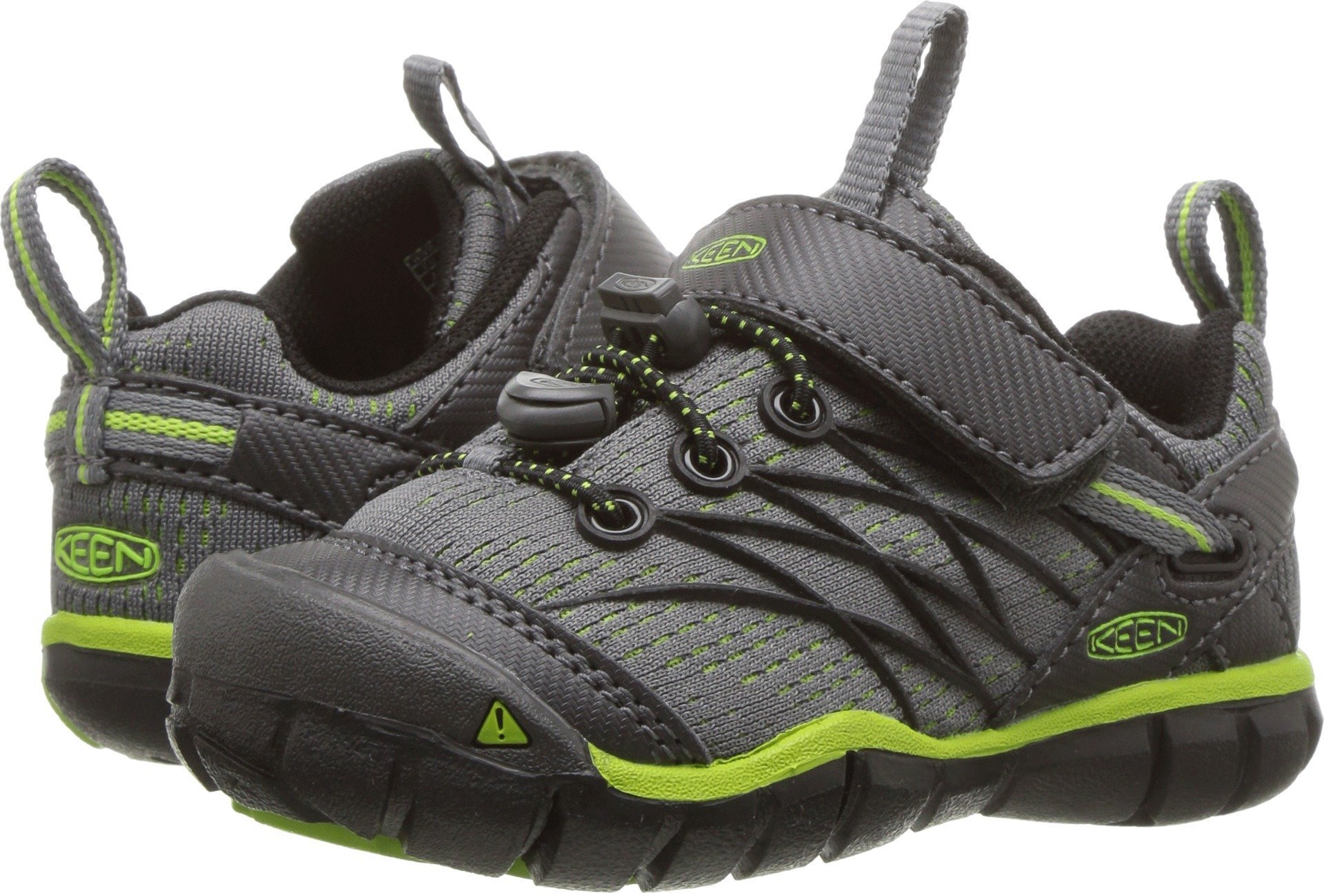 KEEN Unisex-Kids Chandler CNX Hiking Shoe, Magnet/Greenery, 12 M US Little Kid