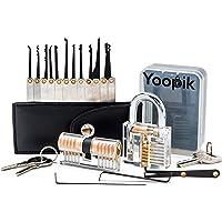 Yoopik Kit de Crochetage Lockpicking Set Complet de 15 Pièces avec 2 Serrures d'entraînement