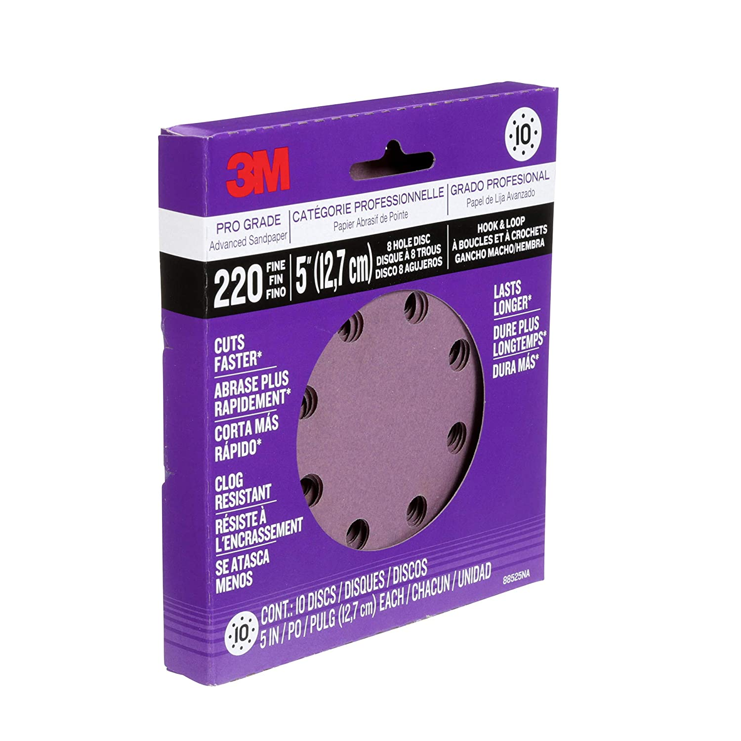 3M 88525NA-9-B Pro Grade 5-Inch 8-Hole Sanding Disc 3M Office Products