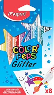 Glitter Marker Pens Sparkle Bullet Tip Bright Pack of 8 Colours PMA 8511004