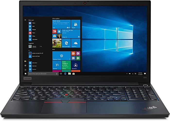 "Lenovo ThinkPad E15 20RD005GUS 15.6"" Notebook - 1920 x 1080 - Core i5 i5-10210U - 8 GB RAM - 1 TB HDD - Black - Windows 10 Pro 64-bit - Intel UHD Graphics - in-Plane Switching (IPS) Technology -"