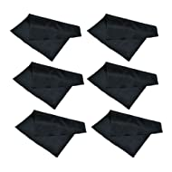 6 Pack Progo Microfiber Cleaning Cloth - For iPhone, Tablets, Lenses, TV and Laptop Screen, Watch, Silverware, Glasses and Other Delicate Surfaces.