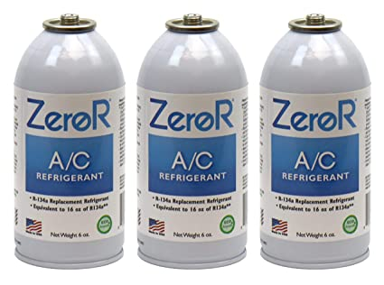 ZeroR AC Refrigerant 3 Cans - Better Than R134a - Made in USA - Natural Non  Ozone Depleting