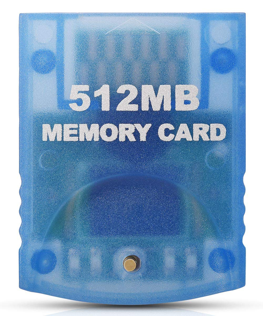 VOYEE Memory Card for Nintendo Gamecube & Wii Consoles, 512MB (8192 Blocks) - Blue by VOYEE