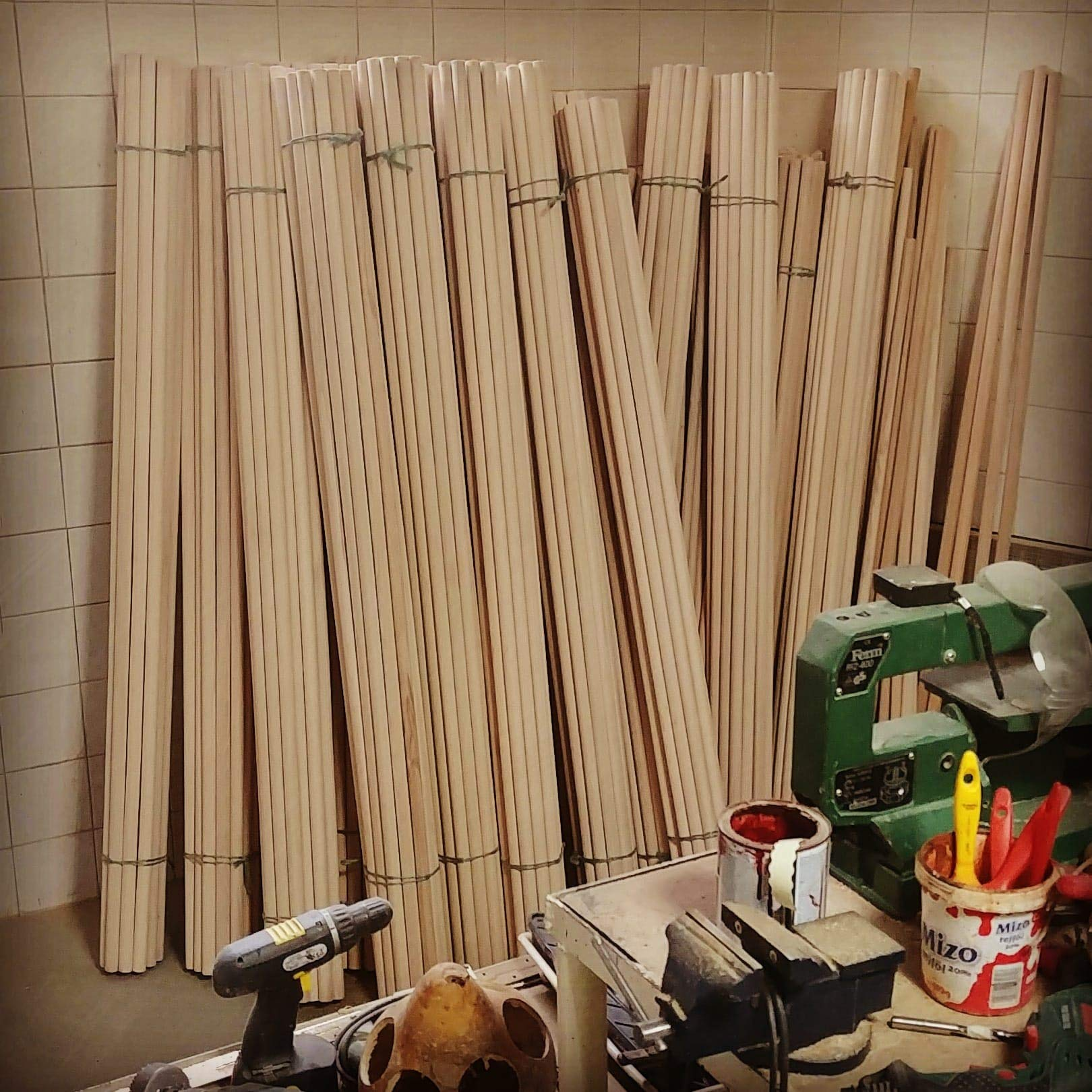 Verga raw material DIY Pack 10x pcs - Small Size 140 cm