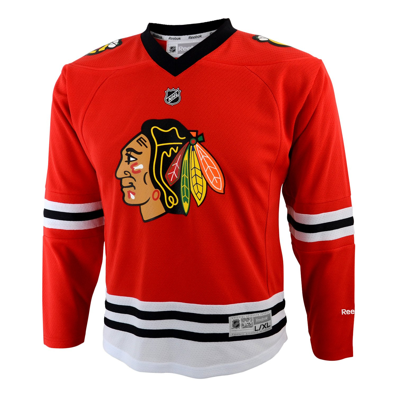 Reebok Chicago Blackhawks Girls Red Replica Blank Jersey