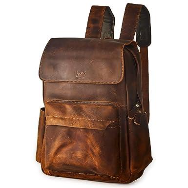 Backpacks Provided Crazy-horse Leather Men Backpack 2019 Retro Waterproof Men Backpack For 15.6 Laptop Fashion Black Brown School Backpack Bag Luggage & Bags