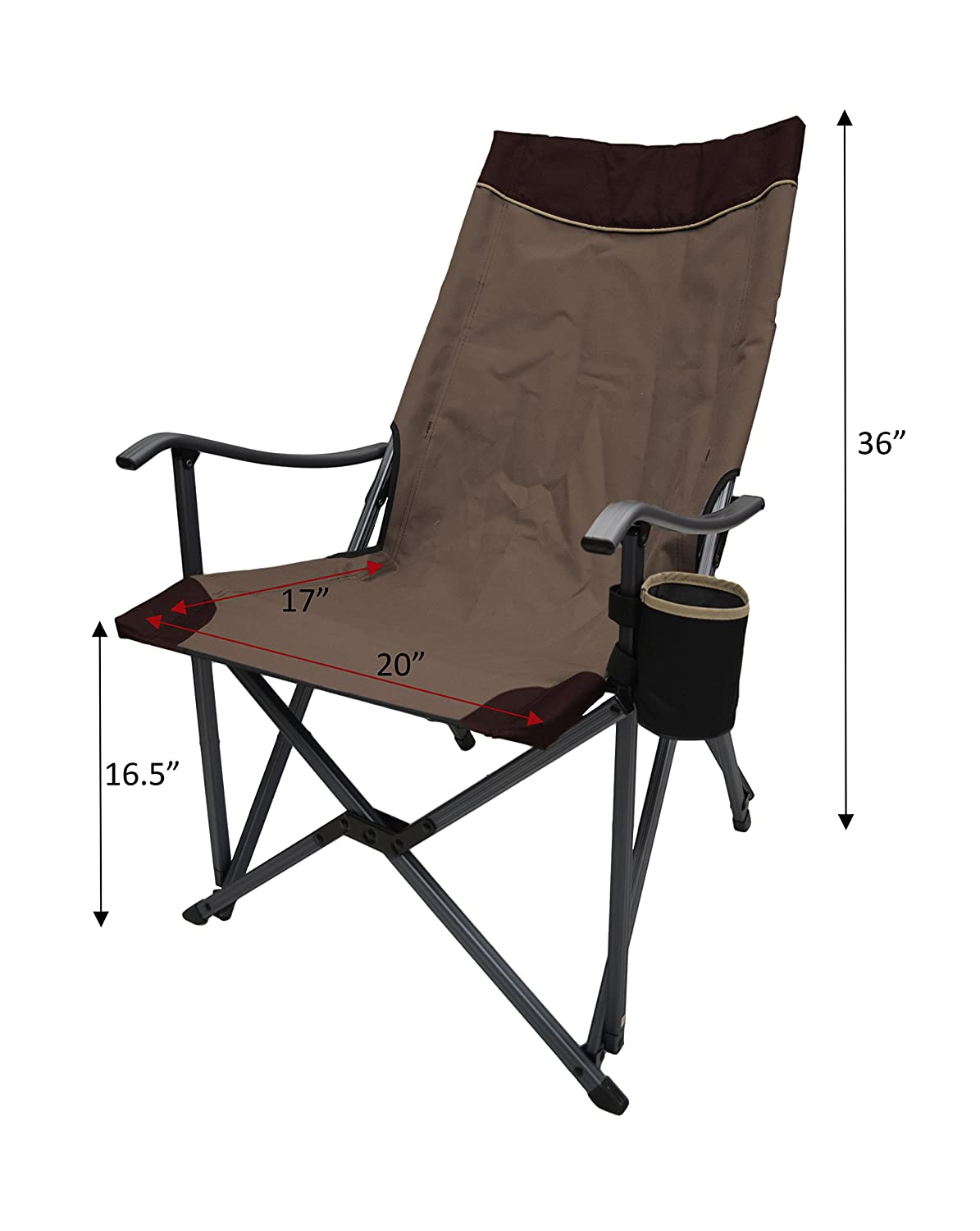 Amazon.com: Ultra peso ligero silla plegable RV silla de ...