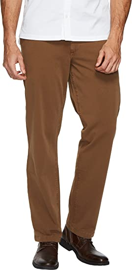 Mens Dockers Straight Fit Downtime Khaki Pants Brown Smart 360 Flex
