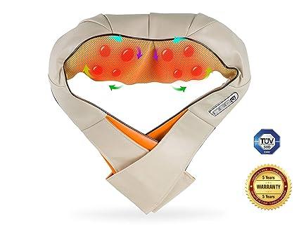 Masajeador electrico lumbar, cervical, Espalda, Cuello y piernas Boston Tech con calor infrarrojo