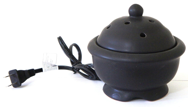 アロマセラピーアクセサリーElectric Simmering Pot with AC電源コード(煙突ブラックカラー B009D3P7H6