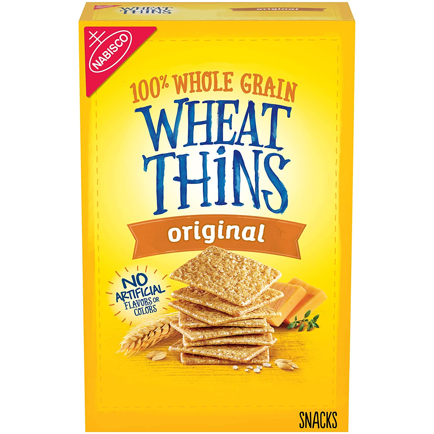 Wheat Thins Original Whole Grain Wheat Crackers, Holiday Christmas Crackers, 9.1 oz