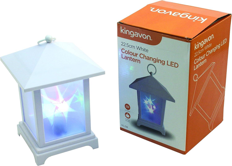 Kingavon 22.5cm Blanco Cambiador de Color LED Lampara Plástico, Plástico
