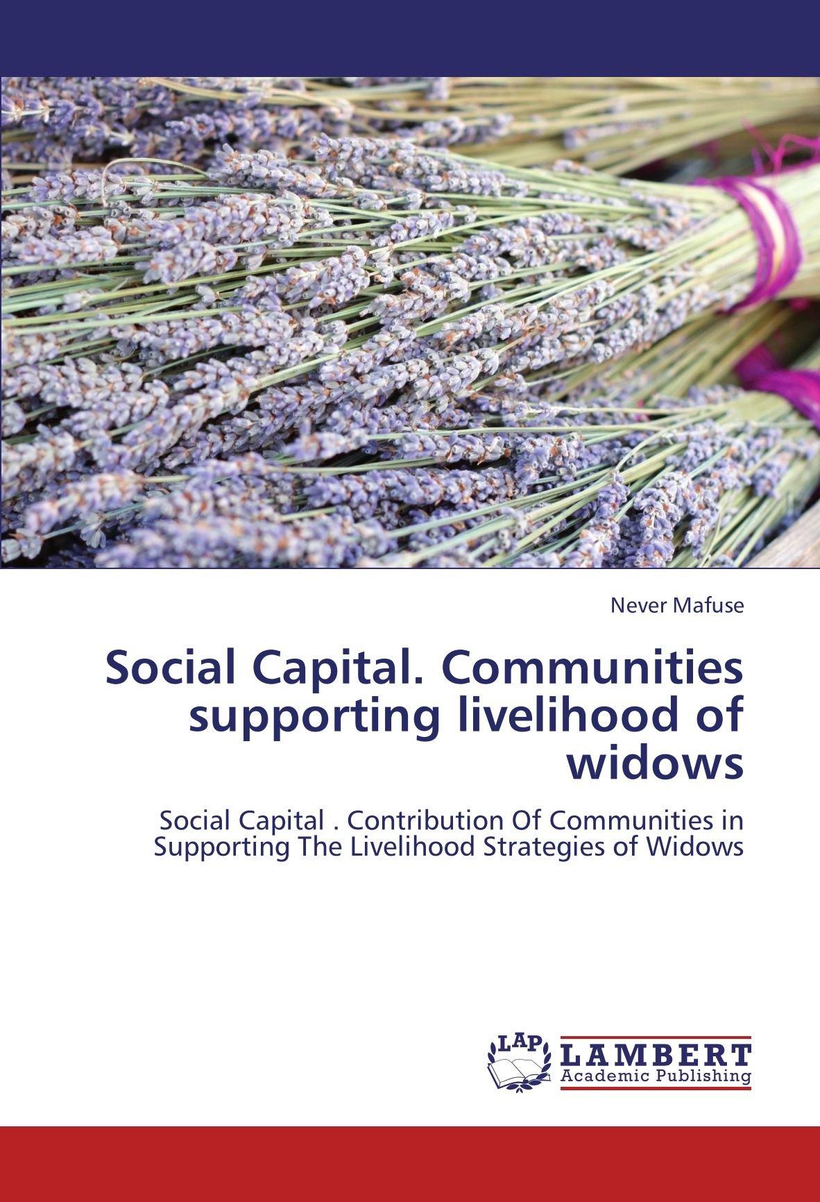 Download Social Capital. Communities  supporting livelihood  of widows: Social Capital . Contribution Of Communities in Supporting The Livelihood Strategies of Widows ebook