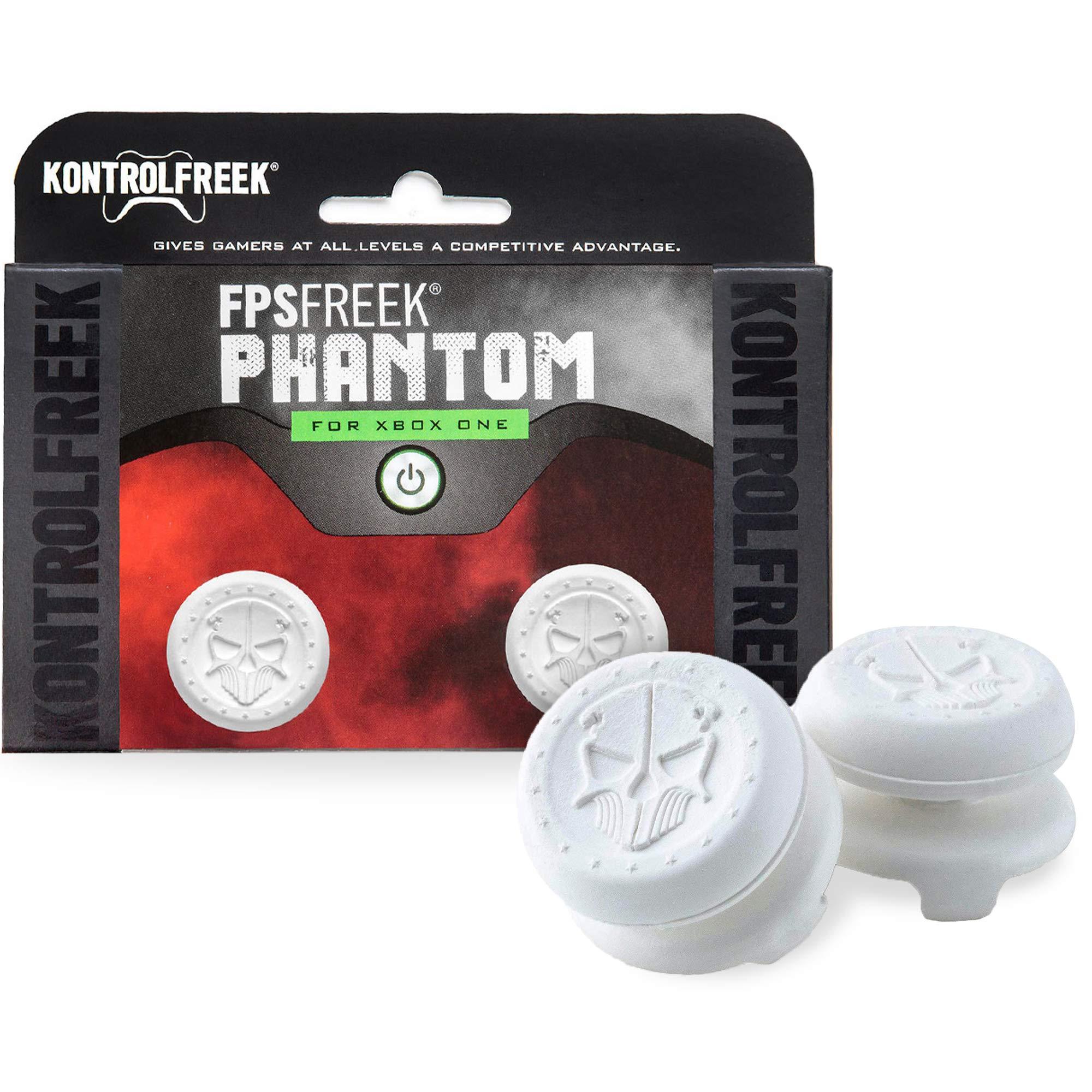 KontrolFreek FPS Freek Phantom for Xbox One Controller | Performance Thumbsticks | 2 High-Rise Concave | White by KontrolFreek