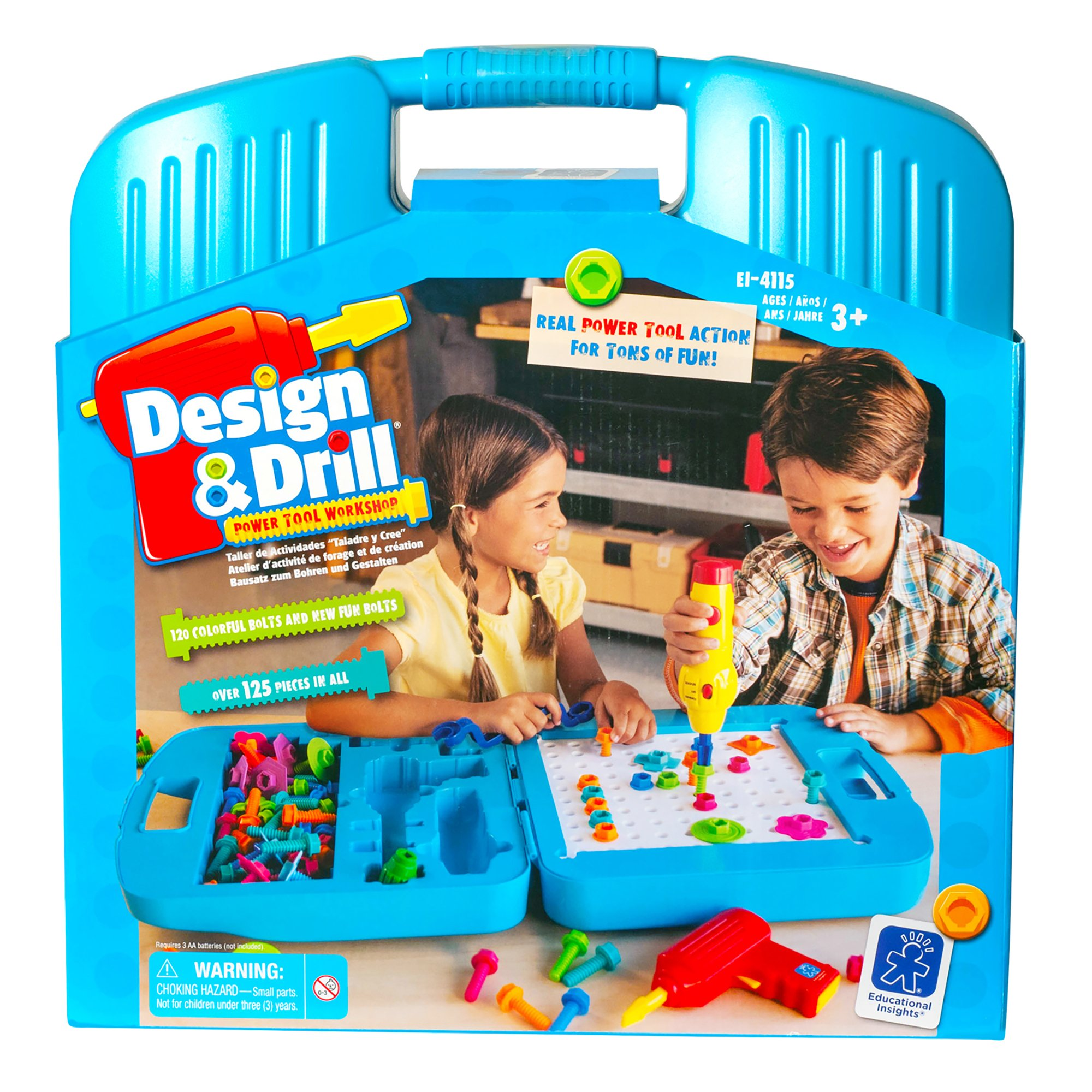 Educational Insights Design & Drill Power Tool Workshop - Drill Toy, STEM & Construction, Building Toy by Educational Insights
