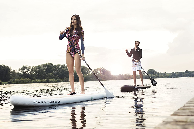 Quattro Fortuna Stand Up Paddle Board Sup 10 8 Inflatable Sup Surf madera blanco o negro imitación de madera, Weiß: Amazon.es: Deportes y aire libre