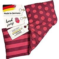 Asigo kersenpitkussen 3 kamers warmtekussen 17 x 48 cm van katoen, veiliger en flexibeler dan warmteflessen, Duitse…