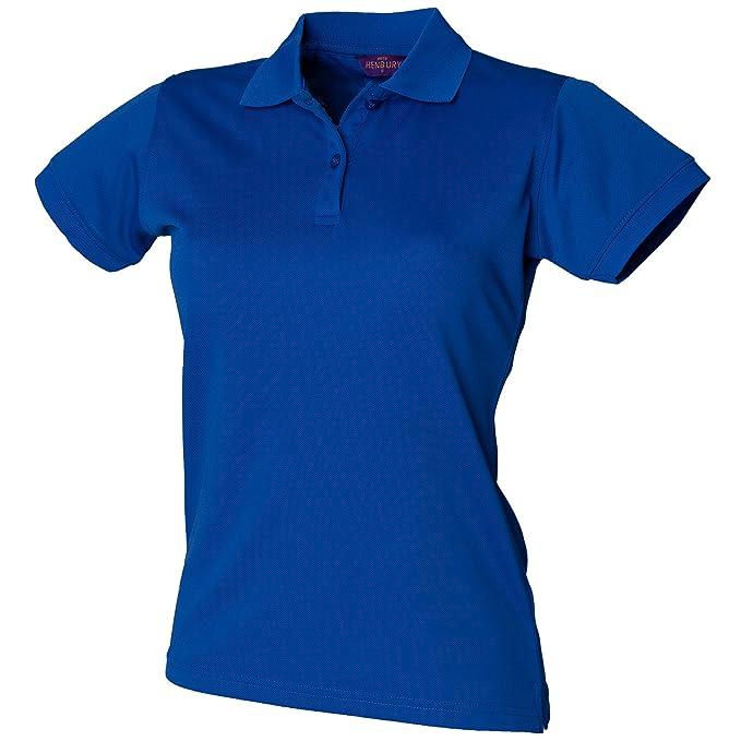 Henbury - Polo con Sistema Coolplus® - Mujer, Azul Navy, XL ...