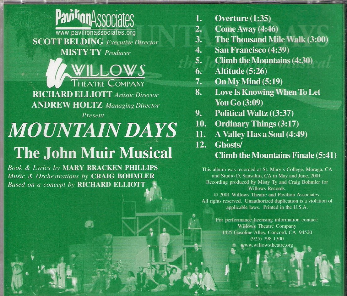 Mountain Days: The John Muir Musical by Willows Records
