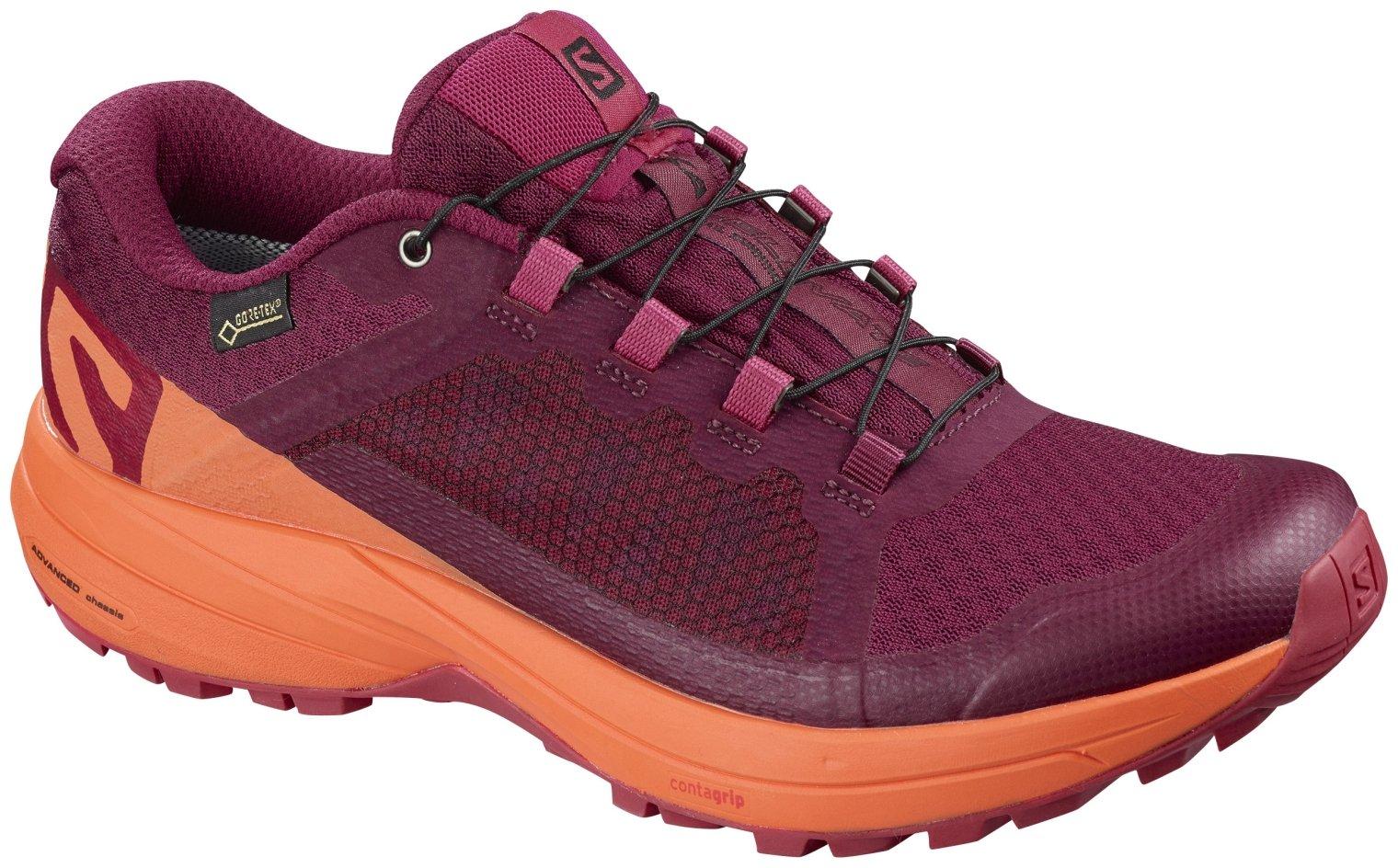 Salomon Women's XA Elevate GTX Running Shoes, Red, 6.5 M