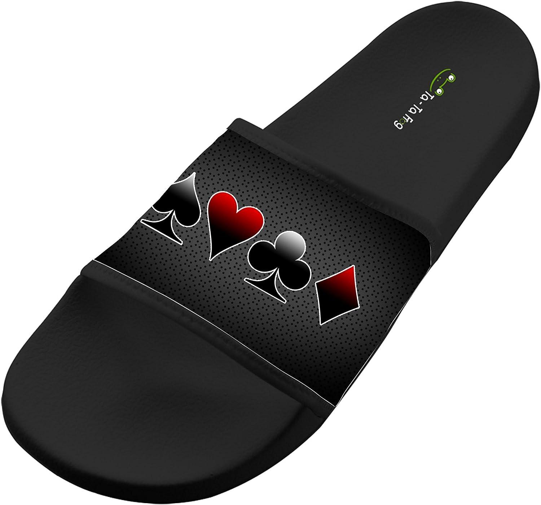 Jane-LEE Shoe Comfortable Slipper Texas Hold/â/€em poker decorations Designs For Men /& Women