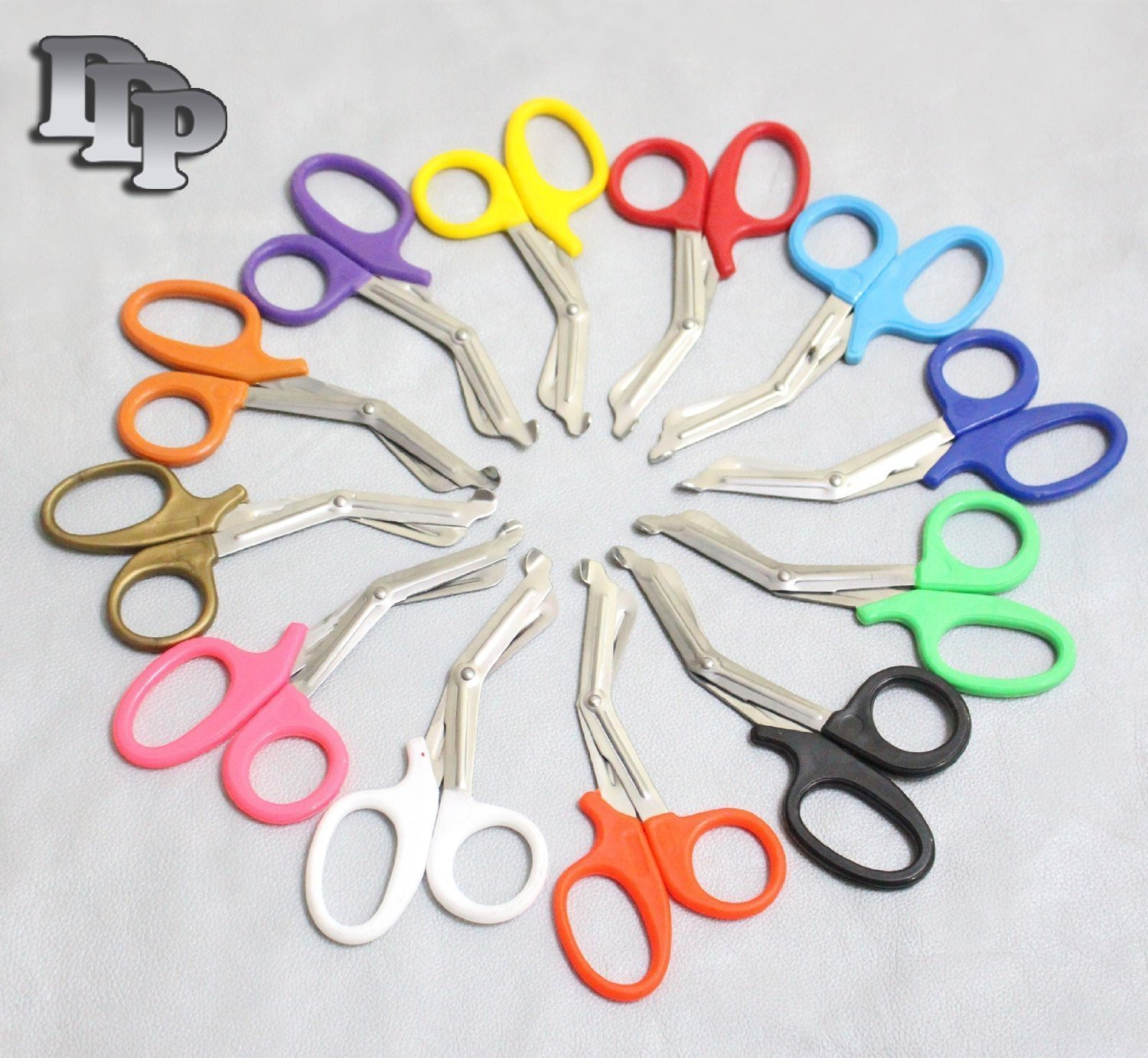 3 PCS (NEON PINK & TEAL & NEON ORANGE) PARAMEDIC UTILITY BANDAGE TRAUMA EMT EMS SHEARS SCISSORS 7.25 INCH STAINLESS STEEL (DDP QUALITY)