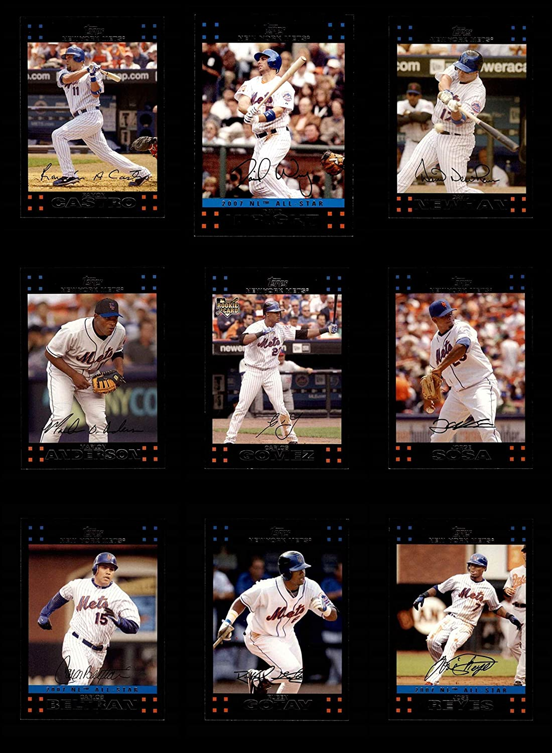 2007 Topps Update New York Mets Team Set New York Mets (Baseball Set) Dean's Cards 8 - NM/MT Mets 81ZjxMYyI2L