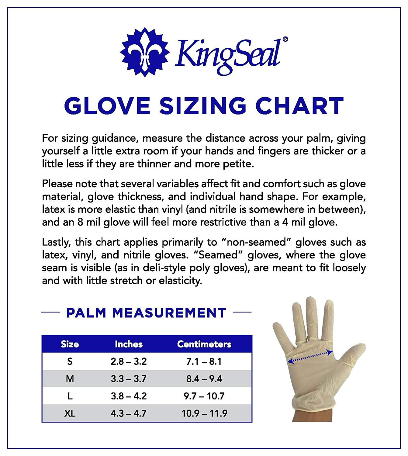 Latex-Free Size Medium KingSeal Nitrile Disposable Gloves 4 boxes of 100 gloves 400pcs total Blue 4 mil Powder-Free