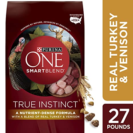 53e318d566 Purina ONE High Protein Natural Dry Dog Food  SmartBlend True Instinct With  Real Turkey