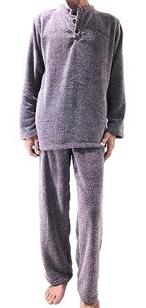 meilleur prix chaussures de sport magasin Pyjama homme hiver chaud épais en pilou confort. (Ref : BVB©)