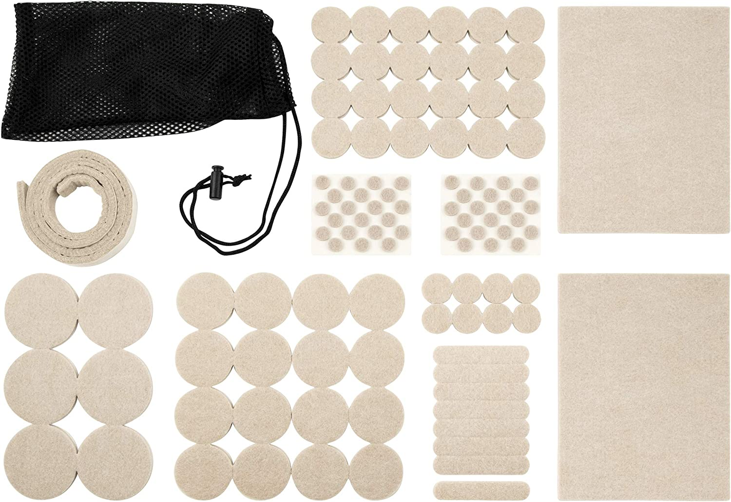 SoftTouch Self-Stick Furniture Felt Pads 108 Piece Value Pack