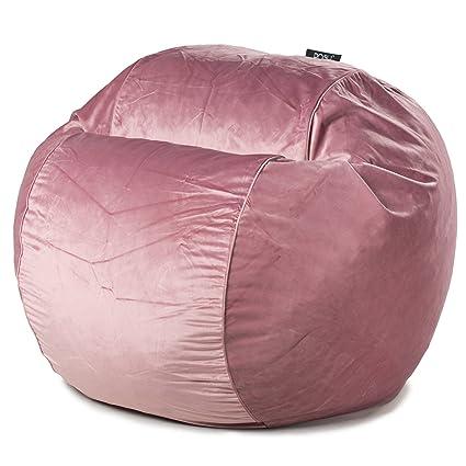 POSH   Misty Rose Velvet   Small Bean Bag Chair