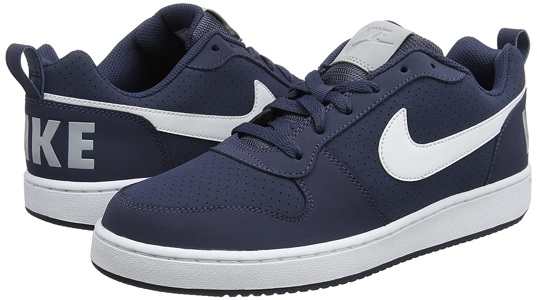 detailed pictures b4514 e2236 Nike Court Borough Low, Chaussures de Gymnastique Homme, Bleu (Thunder  Blue White