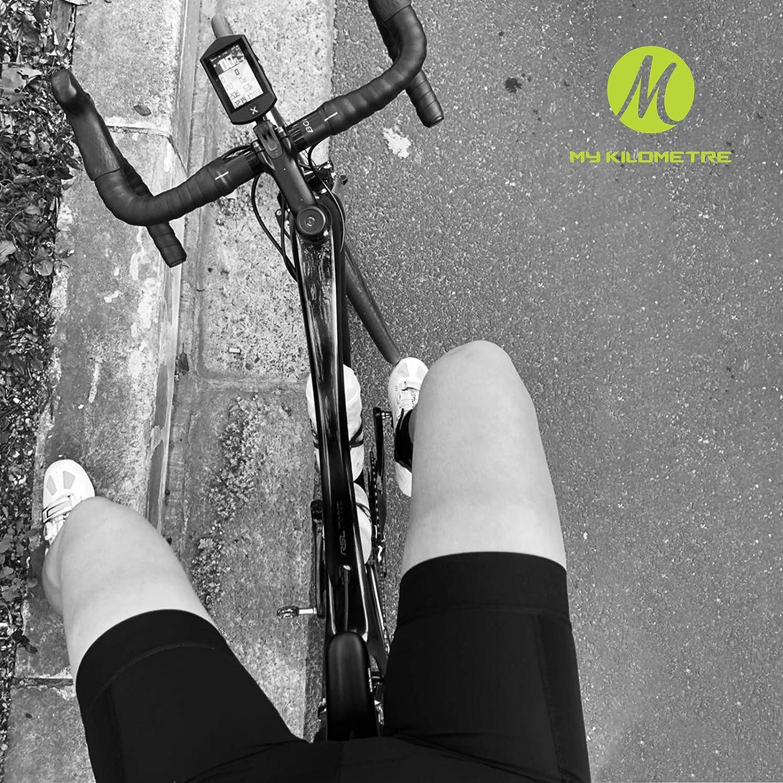 MY KILOMETRE Womens Cycling Bike Bib Shorts Women Bicycle Riding Pants Padded Cycle Bib Shorts