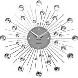 "KARLSSON ""Sunburst""  Wall Clock,  Silver"