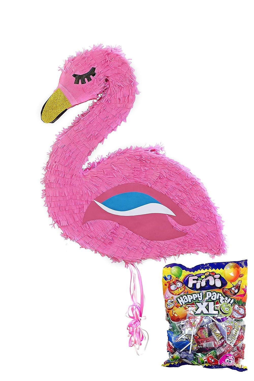 Mery& Lola Party Deco PIÑATA FLAMENCO 50*57 Cm, PIÑATA NIÑAS, PIÑATA CUMPLEAÑOS Candy Sale Cart