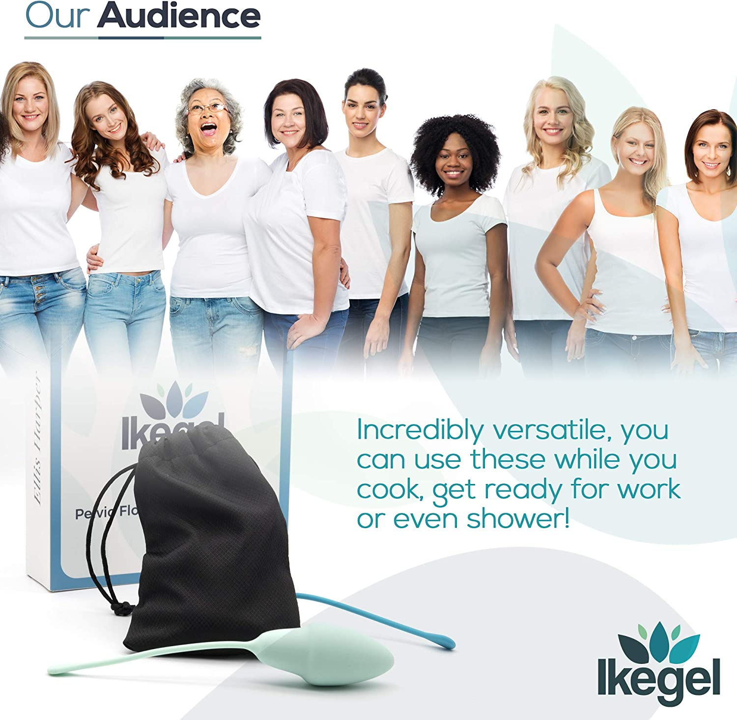 Ikegel: Easy to Use Pelvic Floor Strengthening Device with Kegel Exercise eBook | These Kegel Exercise Products are Doctor Recommended, Ideal Kegel Balls for Tightening and Bladder Control: Toys & Games