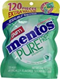 Mentos Pure Fresh Sugar-Free Chewing Gum with Xylitol, Spearmint, 120 Piece Bulk Resealable Bag