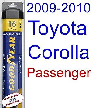 Juego de escobillas de repuesto para limpiaparabrisas Toyota Corolla XLE (2009-2010): Amazon.es: Coche y moto