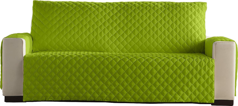 Lucena Cantos - Cubre Sofá Reversible, (Verde/Choco, 3 Plazas)