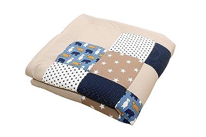 Alfombra para gatear de ULLENBOOM ® con beige oso (manta para bebé ...