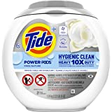 Tide Pods Hygienic Clean Heavy Duty 10x Free Power PODS Laundry Detergent, 21 count, Unscented, For Visible and Invisible Dir