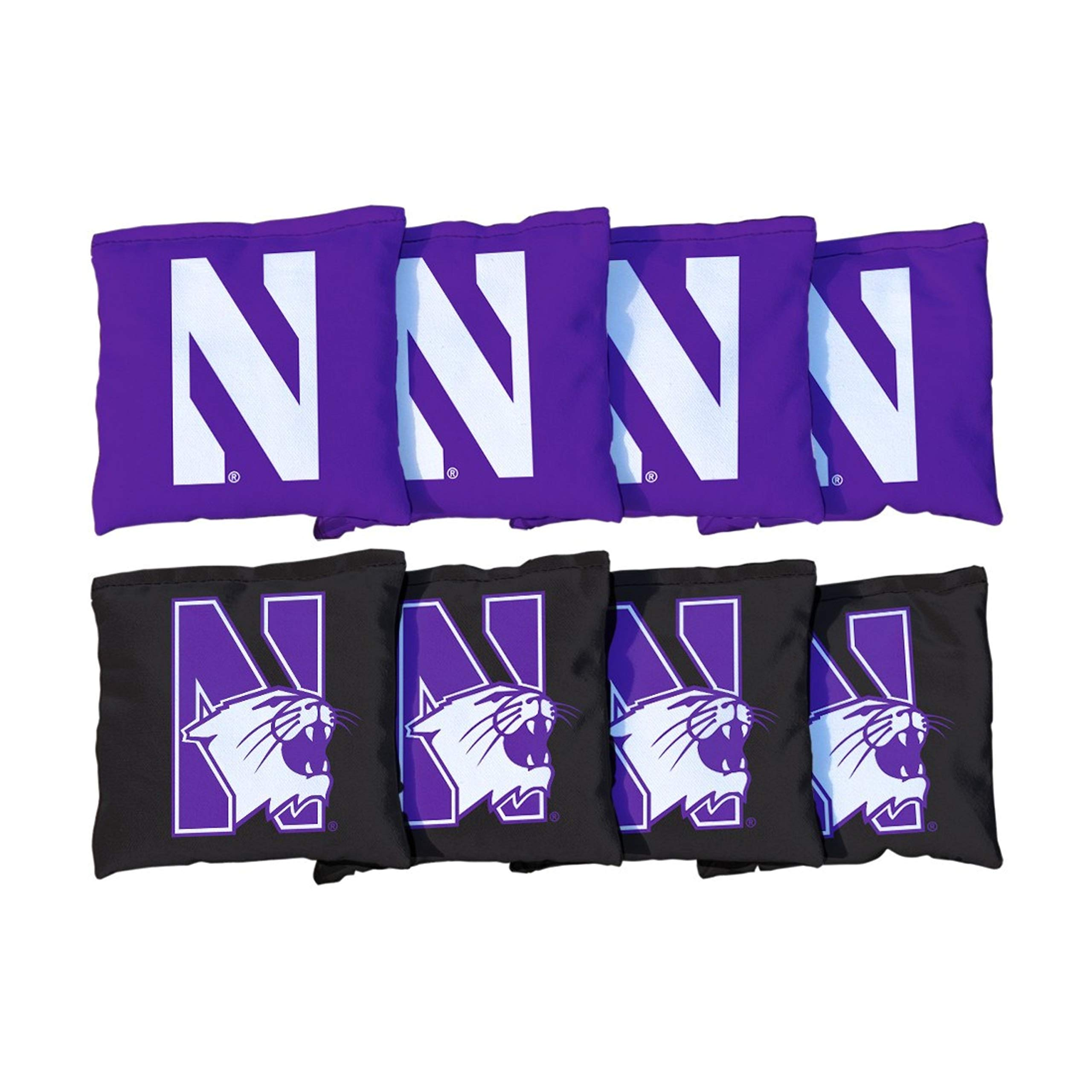 Victory Tailgate NCAA Collegiate Regulation Cornhole Game Bag Set (8 Bags Included, Corn-Filled) - Northwestern Wildcats by Victory Tailgate