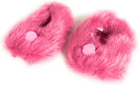 "Hot Pink Slipper Shoes w//Pom Pom for 15/"" American Girl Bitty Baby /& Twins Doll"