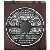 山善(YAMAZEN) 25cmボックス扇風機 (押しボタンスイッチ)(風量3段階) タイマー付 ブラック×木目 YBT-D254(BM)