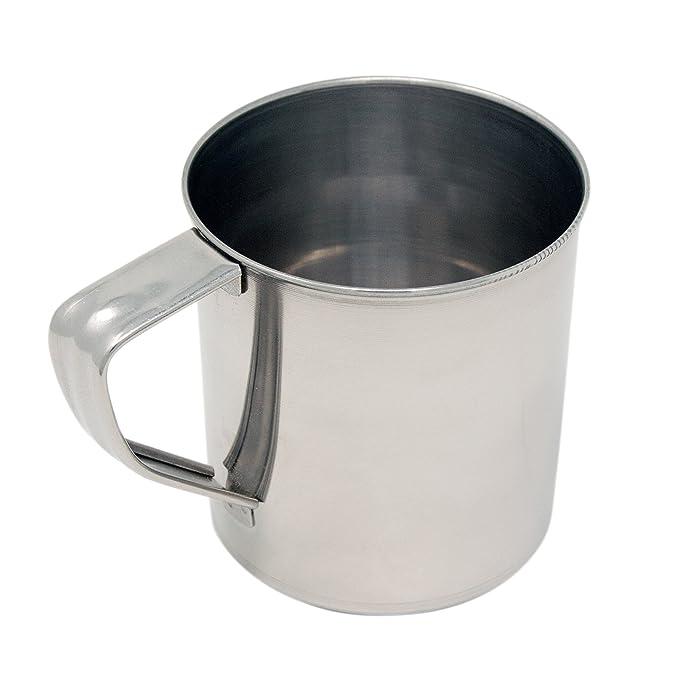 camping Taza Vaso de viaje 0,5 l Vaso Taza taza de acero inoxidable para camping y Exterior ToCi Acero inoxidable taza con mango 4 unidades