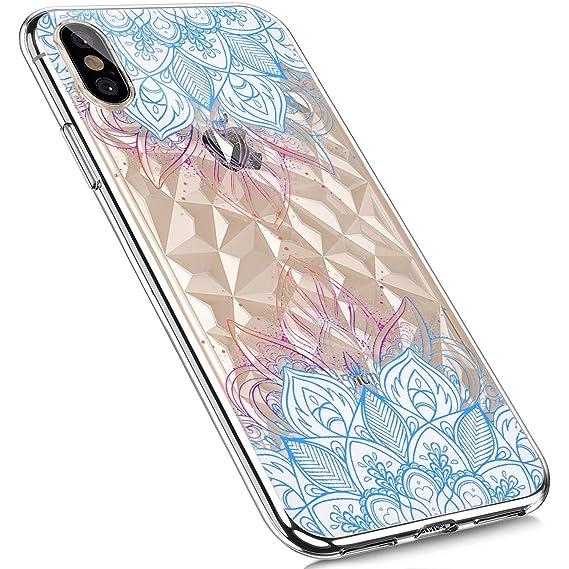 MoreChioce kompatibel mit iPhone XR Hülle,kompatibel mit iPhone XR Handyhülle,Cool 3D Paillette Transparent Silikon Bumper An