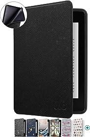 Capa Novo Kindle Paperwhite à Prova D'água WB® Ultra Leve Auto Hibernação Sensor Magnético Silicone Flexível Preta